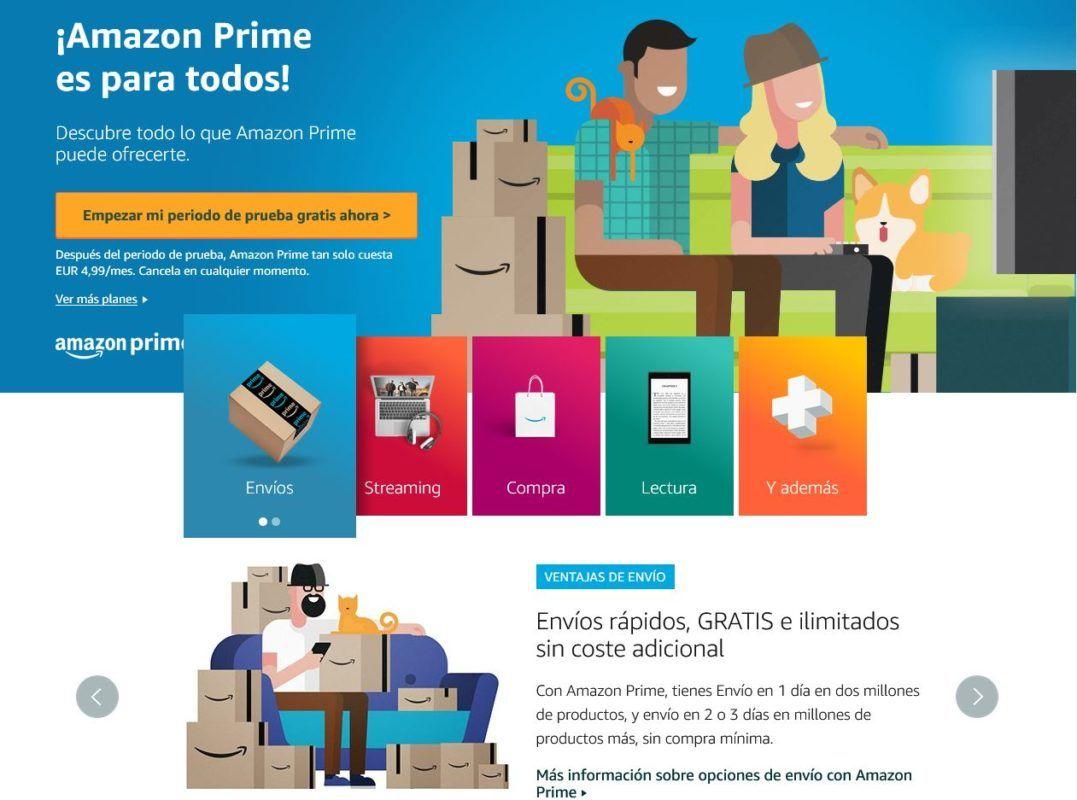 Amazon Prime beneficos portada web