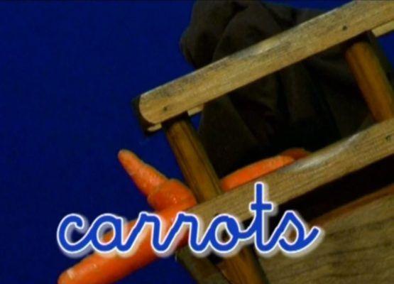 fotograma vídeo de extra en inglés de bebé aventuras, carrots.