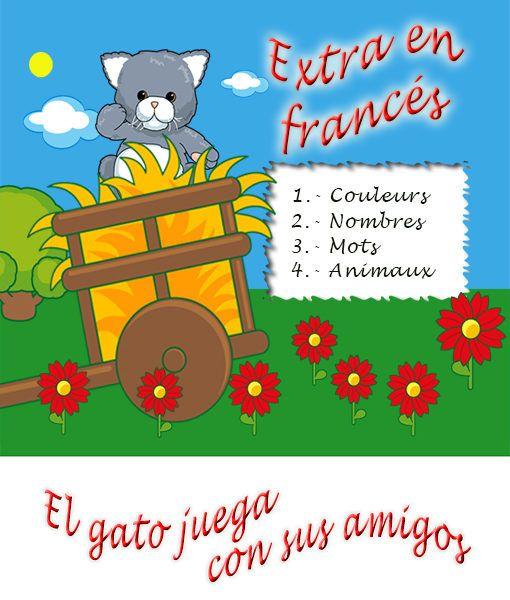 El gato juega con sus amigos - Extra en francés