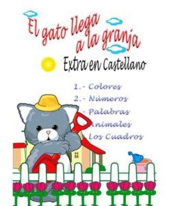 Estimulación temprana. Colores, números, palabras, animales en castellano.