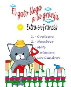 Estimulación temprana. Colores, números, palabras, animales en francés.
