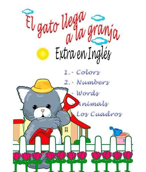 Estimulación temprana. Colores, números, palabras, animales en inglés.