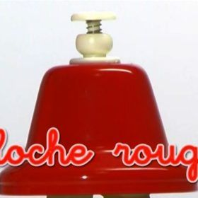Campana roja, colores en idioma francés. Entretener bebés