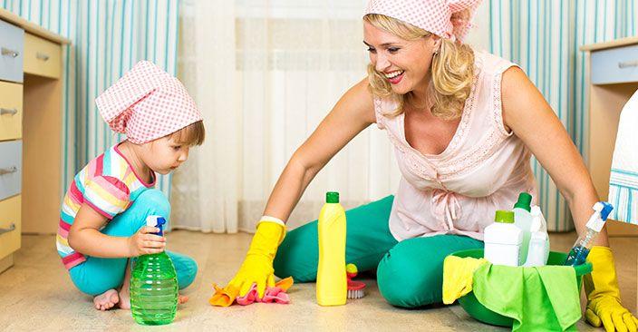 Los niños y las tareas de casa- Labores domesticas